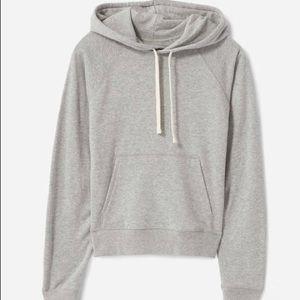 Everlane light weight shrunken French terry hoodie
